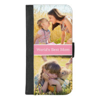 World's Best Mom Custom Photo Collage iPhone 8/7 Plus Wallet Case