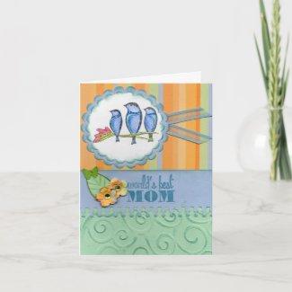 World's Best Mom -customize zazzle_card