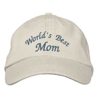 World's Best Mom Cute Embroidered Baseball Hat
