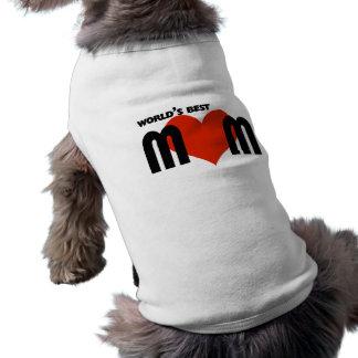 Worlds Best Mom Pet Tee Shirt