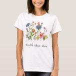 World's Best Mom Flowers Watercolor Art T-Shirt