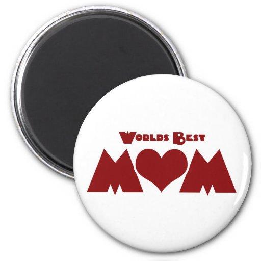 Worlds Best Mom Fridge Magnets