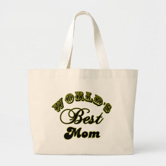 World's Best Mom Gifts and Best Mom Apparel Large Tote Bag