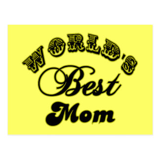 World's Best Mom Gifts and Best Mom Apparel Postcard