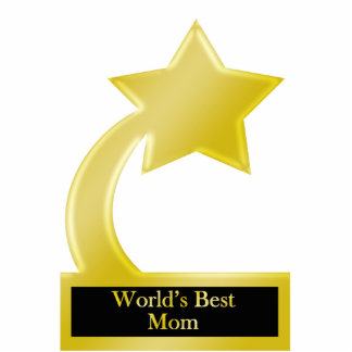 World's Best Mom, Gold Star Award Trophy Statuette