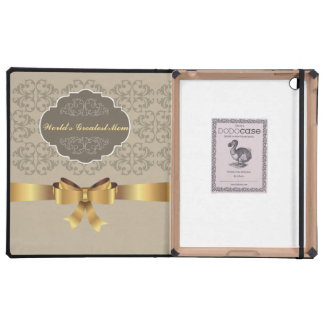World's Best Mom Golden Style iPad Covers