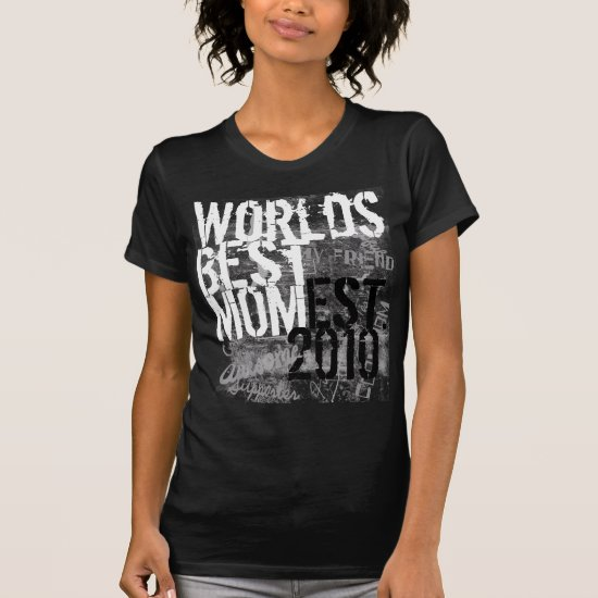 World's Best Mom Grunge Graffitti Text Black Shirt