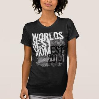 World's Best Mom Grunge Graffitti Text Black Shirt