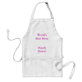 World's Best Mom, Hands Down! Adult Apron