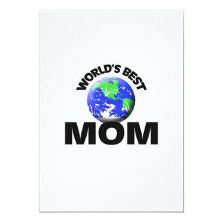 World's Best Mom 5x7 Paper Invitation Card