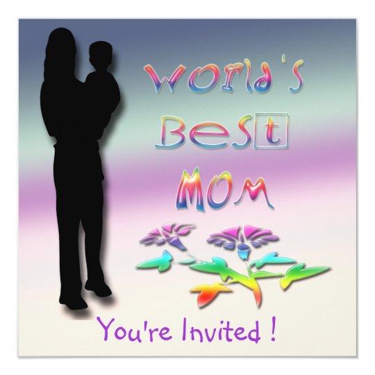 World's Best Mom Invitation
