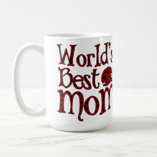 Worlds Best Mom Ladybugs Classic White Coffee Mug