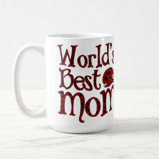 Worlds Best Mom Ladybugs Coffee Mug