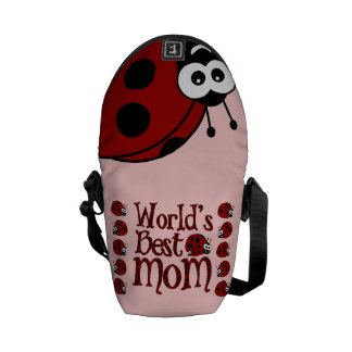 World's Best Mom Ladybugs Courier Bag
