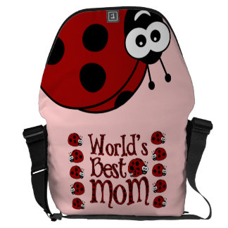World's Best Mom Ladybugs Courier Bag