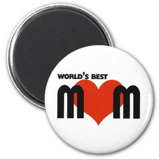 Worlds Best Mom 2 Inch Round Magnet