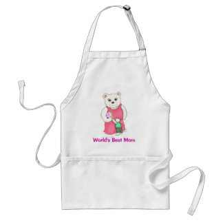 World's Best Mom! Mom bear and cub Apron