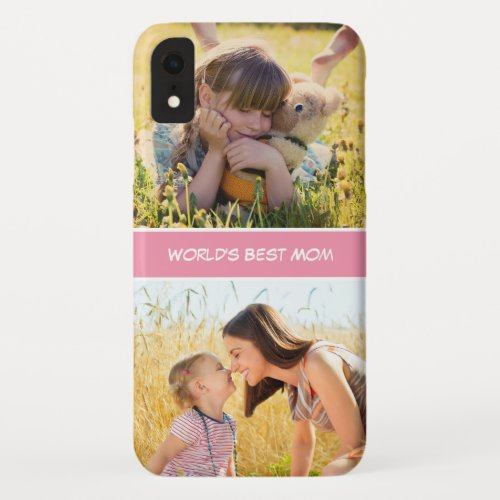 World's Best Mom Mothers Day Gift Custom Photos Phone Case