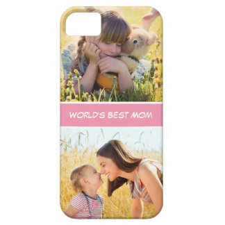 World's Best Mom Mothers Day Gift Custom Photos iPhone SE/5/5s Case