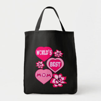 WORLD'S BEST MOM,MOTHERS DAY,MOTHRES BIRTHDAY GIFT TOTE BAG