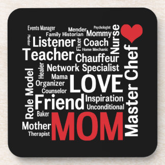 World's Best Mom - Mother's Day or Birthday Beverage Coaster