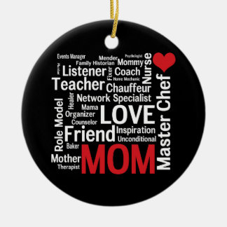 World's Best Mom - Mother's Day or Birthday Ceramic Ornament