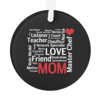 World's Best Mom - Mother's Day or Birthday Ornament