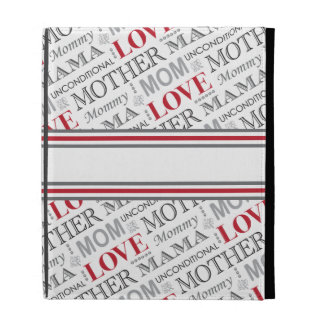 World's Best Mom Mother's Day or Birthday Pattern iPad Folio Covers