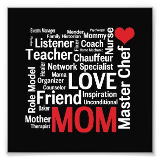 World's Best Mom - Mother's Day or Birthday Photo Print
