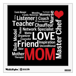 World's Best Mom - Mother's Day or Birthday Wall Sticker