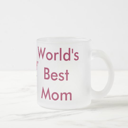 World's Best Mom Mug (with heart)