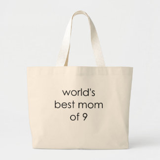 worlds best mom of 9.png canvas bags