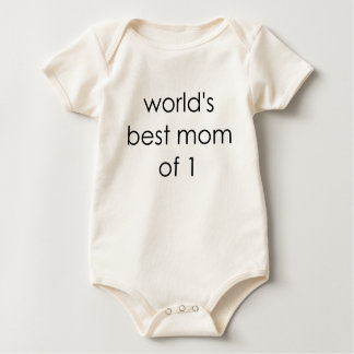 worlds best mom of one.png baby bodysuit