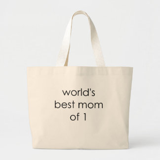 worlds best mom of one.png tote bags