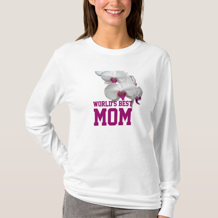 World's Best Mom Orchid T-shirt
