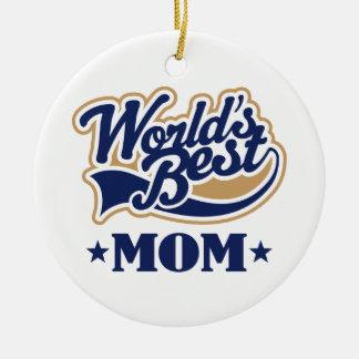 Worlds Best Mom Ornament Keepsake Gift