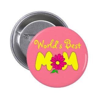 World's Best Mom Pinback Button