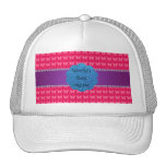 World's best mom pink butterflies mesh hat