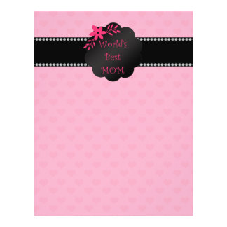World's best mom pink hearts full color flyer