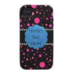 World's best mom pink polka dots vibe iPhone 4 covers