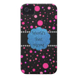 World's best mom pink polka dots iPhone 4 Case-Mate cases