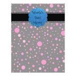 World's best mom pink polka dots personalized flyer