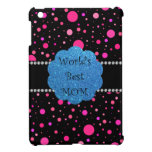 World's best mom pink polka dots iPad mini cases