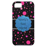 World's best mom pink polka dots iPhone 5 covers