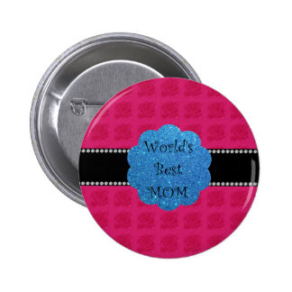 World's best mom pink roses 2 inch round button