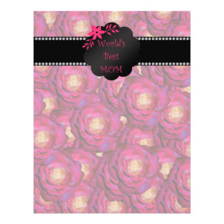 World's best mom pink roses personalized flyer