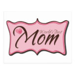 World's Best Mom Plaque Post Cards