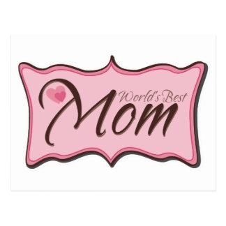 World's Best Mom Plaque Postcard