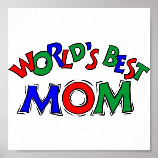 Worlds Best Mom Portfolio 11x11 Poster