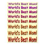 World's Best Mom! Postcard